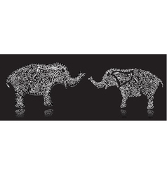 stylish design elephant vector image vector image