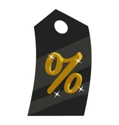 Tag percentage icon cartoon style vector