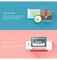 Time to work and process vector image