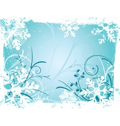 winter grunge vector image
