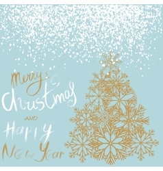 Christmas and happy new year handwritten lettering vector