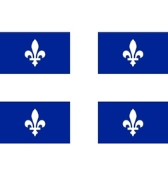 Flag of quebec in correct proportions and colors vector
