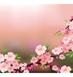 The beauty of fresh flowers vector