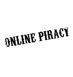 Online piracy rubber stamp vector