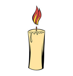 candle icon cartoon vector image