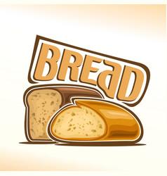 logo of bread vector image