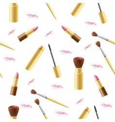 Cosmetics seamless background vector