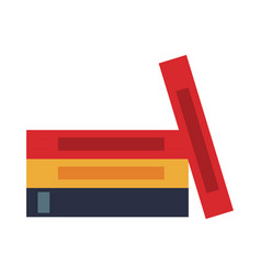 Stack books literature office supply vector