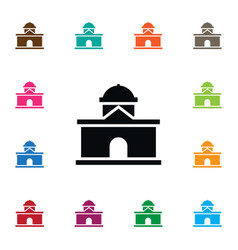 isolated residential icon building element vector image