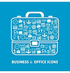 Briefcase office icons vector