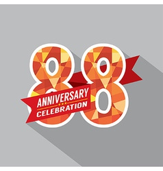 88th Years Anniversary Celebration Design vector image