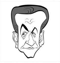 Nicolas Sarkozy vector image
