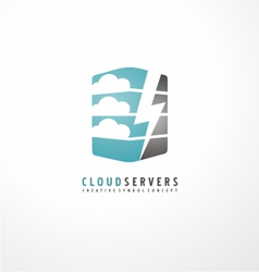 Creative logo design template for cloud computing vector image
