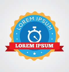 Timer vintage badge label icon vector