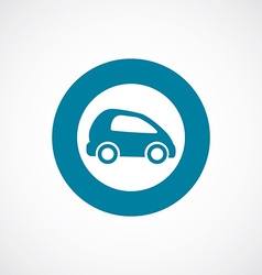 mini car icon bold blue circle border vector image