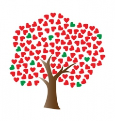 vector love tree vector image