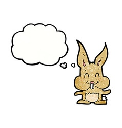 Cartoon rabbit with thought bubble vector