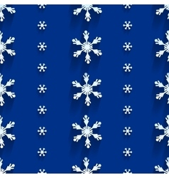 Seamless pattern with snowflakes vector