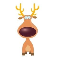 Cartoon christmas reindeer character vector