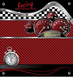 Abstract racing carbon fiber background vector