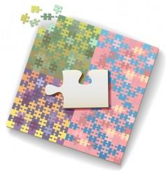 jigsaw piece vector image