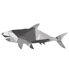 Geometric texture shark silhouette icon vector