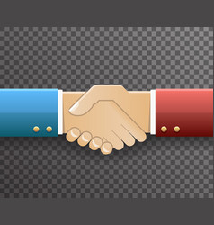 businessman handshake partnership symbol vector image