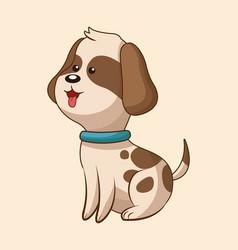 Cute dog wildlife image vector