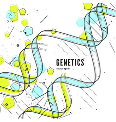 Dna genetic conceptual background vector