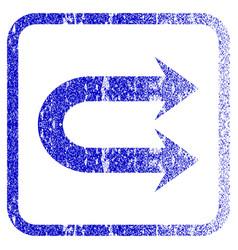 Double right arrow framed textured icon vector