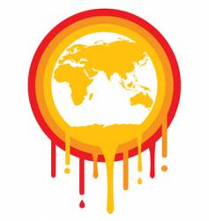 global meltdown vector image