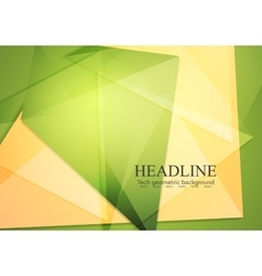 Green orange polygonal brochure template vector