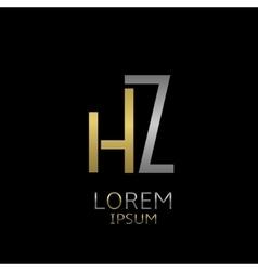 Hz letters logo vector
