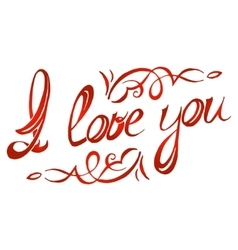 I love you lettering vector