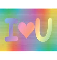 i love you sign vector image vector image