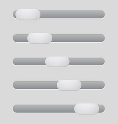interface slider gray bar vector image