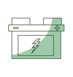 Isolated car battery vector