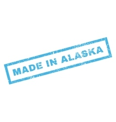 Made in alaska rubber stamp vector