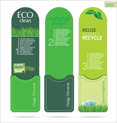 Modern design Eco labels vector image