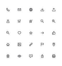 Most used webdesign icons ui set vector