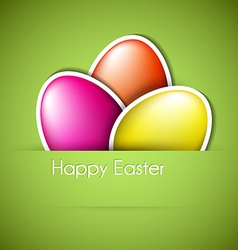 Paper easter egg card vector image vector image