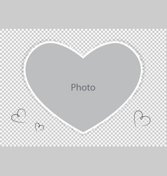 Photo frame for loved spouse or child vector