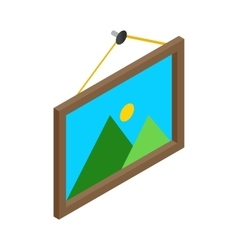 Picture on the wall isometric 3d vector