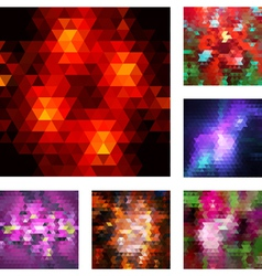 Set of abstract geometric backgrouns vector image