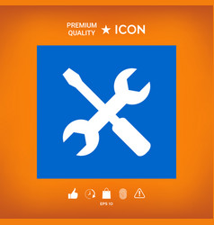 Settings icon - wrench and screwdriver vector