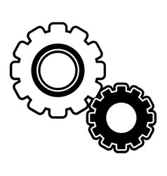 Silhouette industry gears process technology vector