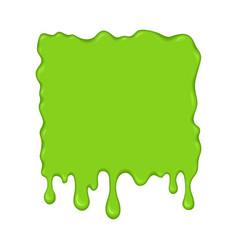 - green slime drips vector image