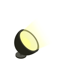 Spotlight icon in isometric 3d style vector