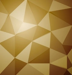 Abstract golden polygon triangle background vector image