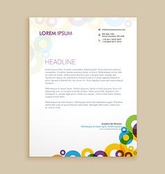 Creative circle shapes letterhead design vector